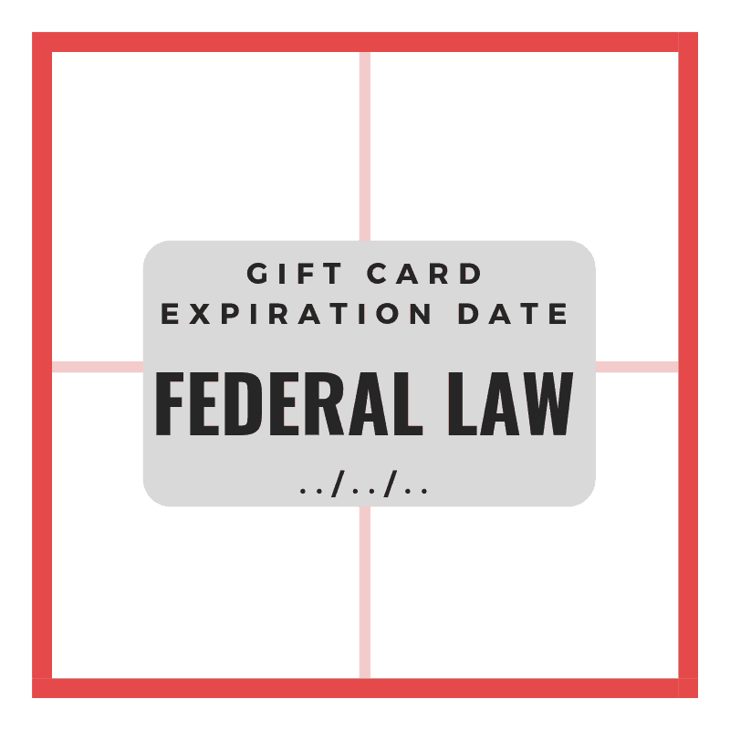 gift card expiration date federal law