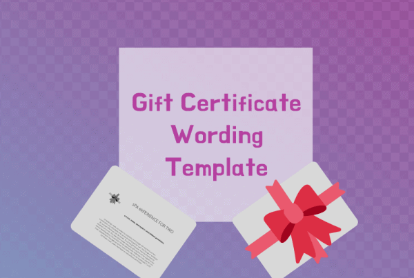 Gift Certificate Wording Template