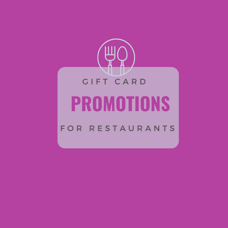 Gift Card Promotions Restaurants